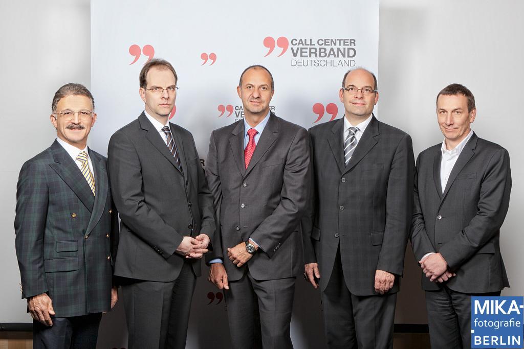 Portraitfotografie Berlin - Neuer Call Center Verbands Vorstand
