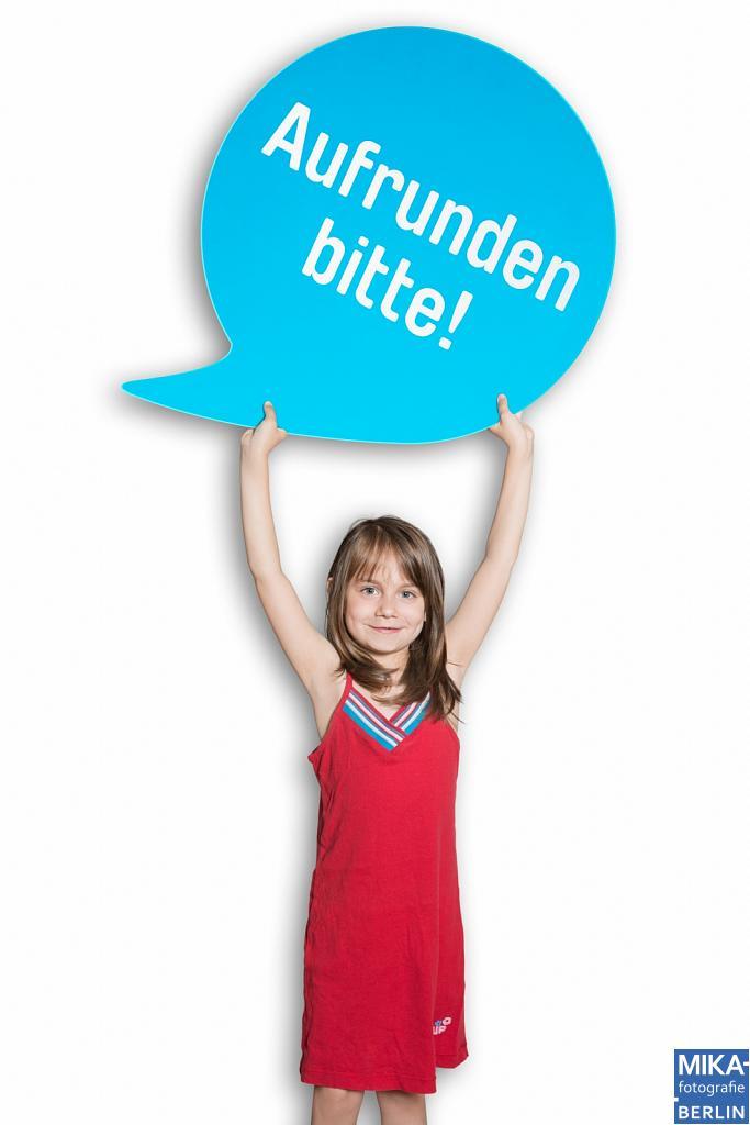 Businessfotografie Berlin - DEUTSCHLAND RUNDET AUF - Kids Aufrunden bitte!